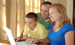 happy family enjoys digital publishing
